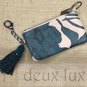 Deux Lux genuine soft leather coin zipper pouch
